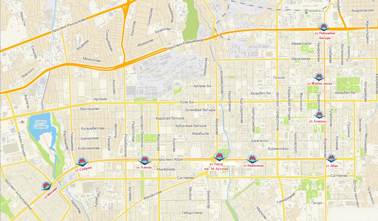 схема метро с планируемыми станциями