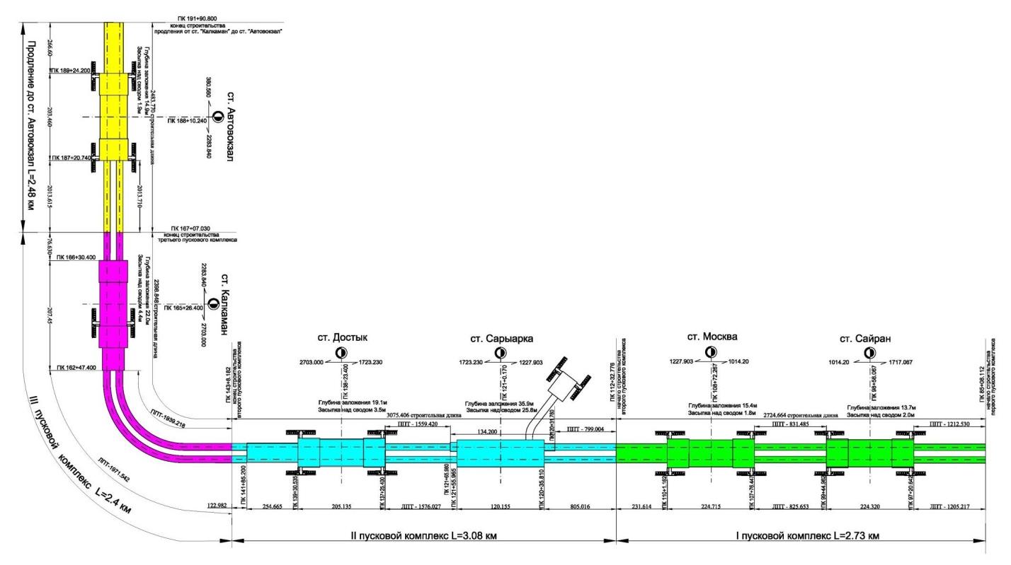 новая карта метро 2020 схема